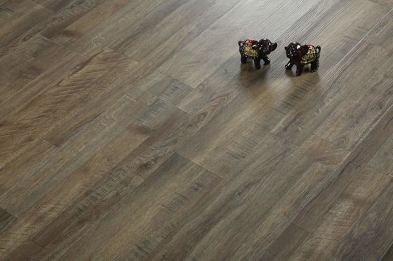 China Wood Textured Vinyl Click System Flooring For School / Hotel 5mm Thickness factory